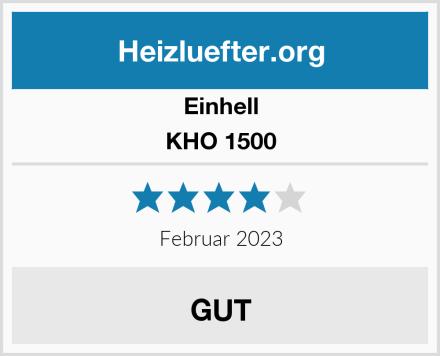 Einhell KHO 1500 Test