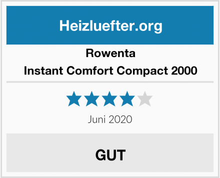 Rowenta Instant Comfort Compact 2000 Test