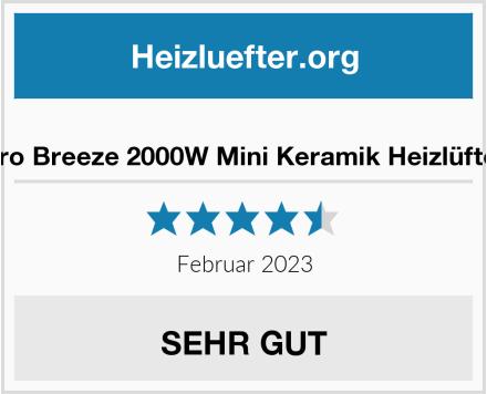 Pro Breeze™ 2000W Mini Keramik Heizlüfter Test