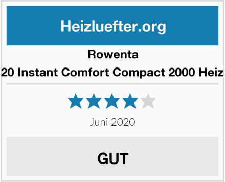 Rowenta SO2320 Instant Comfort Compact 2000 Heizlüfter Test